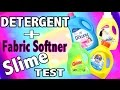 Laundry Detergent Slime Test with Tide, Gain + Fabric Softner Slime with Downy, Suavitel