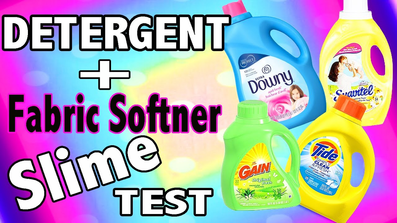 How Much He Detergent To Use Laundry Detergent Slime Test With Tide Gain Fabric Softner