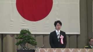 先日(3/12)の息子の卒業式での小泉進次郎氏の祝辞 流石地元を把握して...