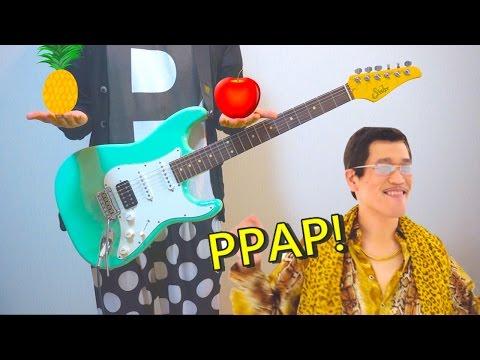 PPAP - Pen Pineapple Apple Pen(Guitar Cover)ペンパイナッポーアッポーペン/PIKOTARO(ピコ太郎)   ギターで弾いてみた