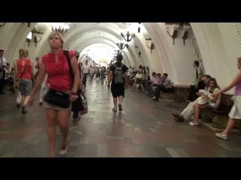 Moscow, Arbatskaya Metro Station