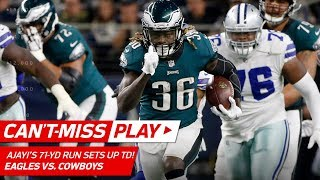 Ajayi's 71-Yd Run Sets Up Wentz's TD Pass & 2-Pt Toss to Jeffery! | Can't-Miss Play | NFL Wk 11