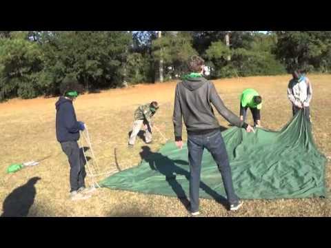 Blindfolded Tarp Pitch