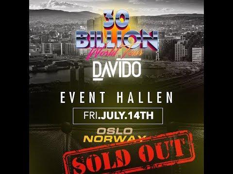 Davido Sold Out #30BillionWorldTour in Oslo (Norway) & Helsinki (Finland)