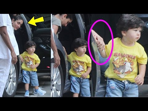 Taimur ali Khan not leaving mom Kareena Kapoor's hand and ing  his love
