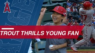 Mike Trout's Autograph, Homer Makes Young Fan's Day