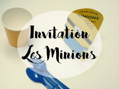 gouter d 39 anniversaire invitations minions diy youtube. Black Bedroom Furniture Sets. Home Design Ideas