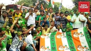 Election Results: TMC Supporters Celebrates In West Bengal