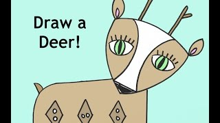 How To Draw A Deer Cartoon Drawing Tutorial For Kids