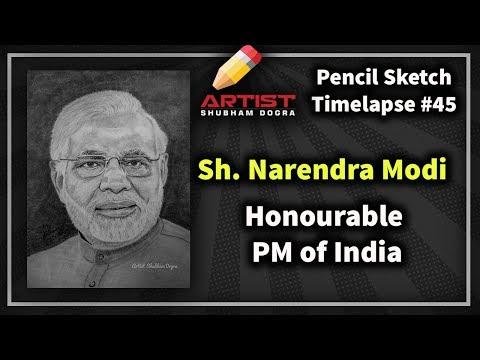 Pencil Sketch of  PM Modi ji 2019