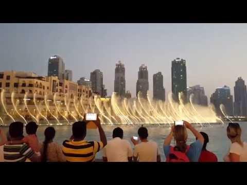 The Dubai Fountain With Sama Dubai Song HD