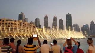 The Dubai Fountain With Sama Dubai Song (2016) HD