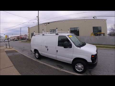 2011 White /Gray Ford E-Series Van E-250 (1FTNE2EW7BD) with an 4.6L V8 SOHC 16V engine, 4-Speed Automatic transmission, located at 577 Chester Pike, Prospect Park, PA, 19076, (610) 237-1015, 39.886154, -75.302338 - Photo #0