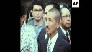 SYND 13-3-74 SOLDIER RETURNS TO TOKYO AFTER 30 YEARS OF HIDING IN PHILIPPINES