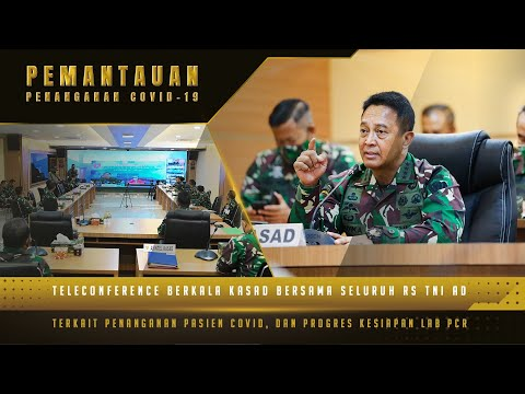Teleconference Kasad dengan RS TNI AD, Memantau Keadaan Istri dari Prajurit yang Terdampak Covid-19
