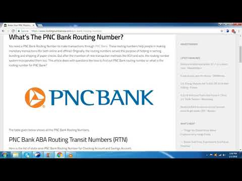 How To Find The PNC Bank Routing Number?
