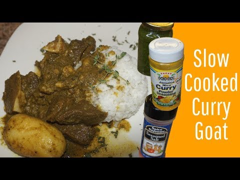 Slow Cooker CURRY GOAT Easy AS 1, 2, 3