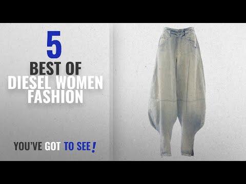 Diesel Women Fashion [2018 Best Sellers]: Diesel Women's NYF Harem Zipper Ankle Jeans #00AE9J Light