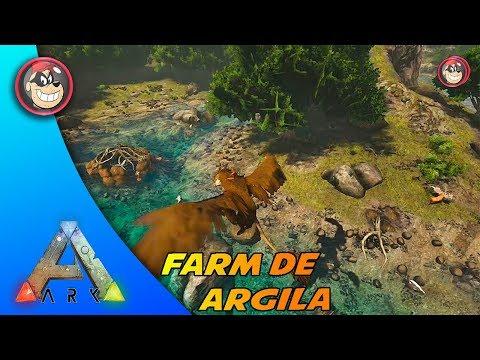 🔵 ARK SURVIVAL EVOLVED - RAGNAROK LOCAL DE FARM DE ARGILA E CASA DE CASTORPT-BR