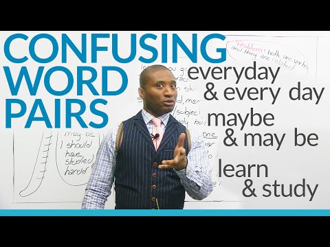 3 Commonly Confused WORD PAIRS in English