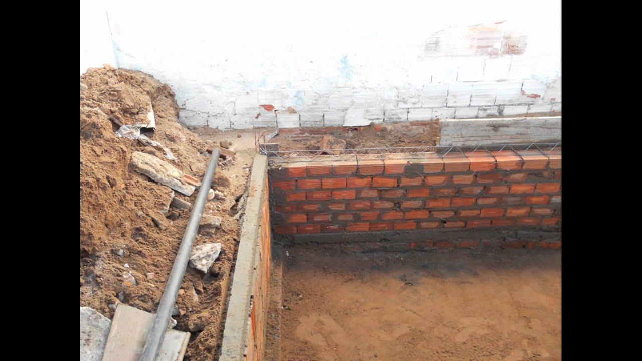 Construindo uma piscina um sonho realizado parte for Piscinas semienterradas