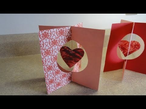 Valentines day kids craft Stained Glass Crayon Hearts 3D – Make a Valentine Day Card Online
