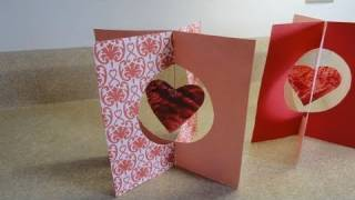 How to make simple stand up Valentine's day cards and a mobile usin...