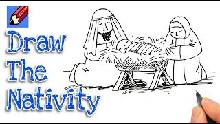 How to Draw a Nativity Real Easy - Part 1