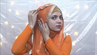 HOW TO STYLE LONG DUPATTA SCARF AS HIJAB STYLE, WEDDING HIJAB STYLES  ISHRATH SH