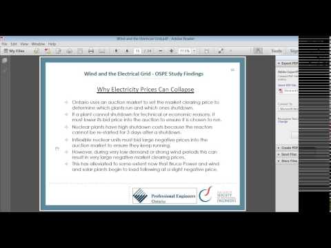 OSPE Webinar: Wind and the Electrical Grid with Paul Acchione, P.Eng. (April 10, 2014)