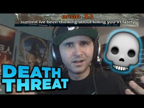 Summit gets DEATH THREAT donation [WITH CHAT]