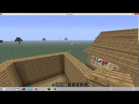 Como hacer una caba a en minecraft youtube - Como construir una cabana ...