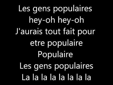 La Fouine - Populaire avec paroles (lyrics)