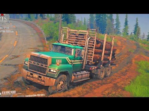 Ford LTL 9000 | Transportando Troncos En Monte Logmore | American Wilds