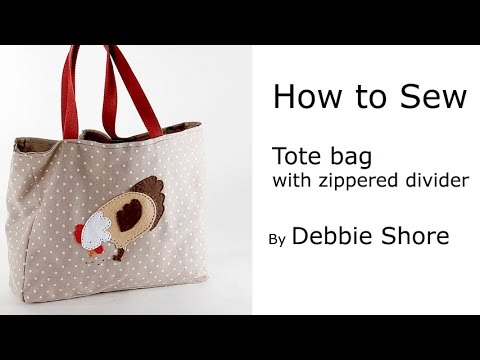 Sewing A Tote Bag With Zipped Divider And Pocket By Debbie