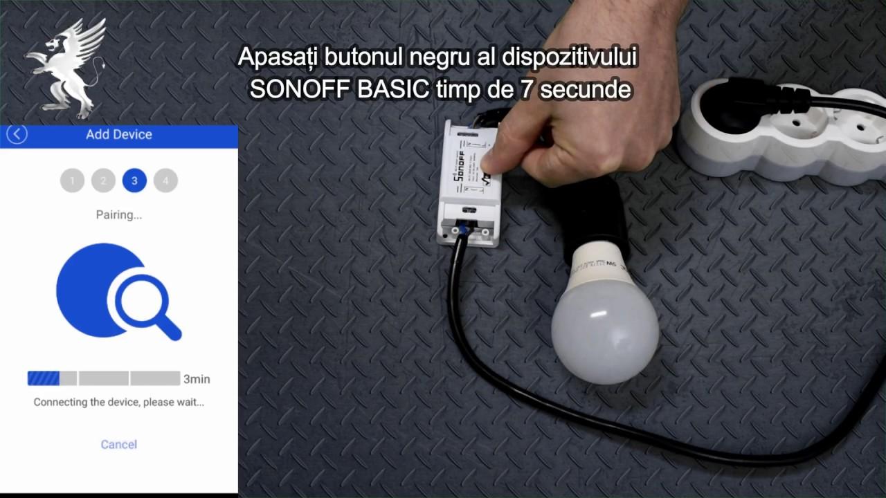 Controller WIFI SONOFF BASIC - Mod Configurare/Instalare