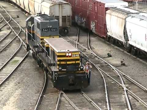 Trains: 6 Axle Mother/Slug Tandem / Switching at Chicago Cle