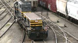 Trains: 6 Axle Mother/Slug Tandem / Switching at Chicago Clearing Yard