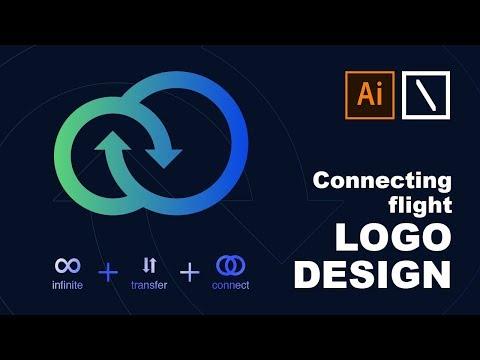 Connecting Flight Logo Design | Adobe Illustrator Tutorial thumbnail