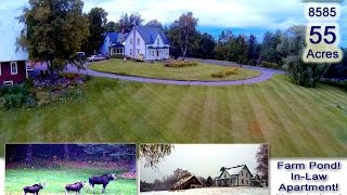 Maine Farm Home, 55 Acres Of Land | 183 Campbell Road New Limerick Maine 04761 MOOERS #8585