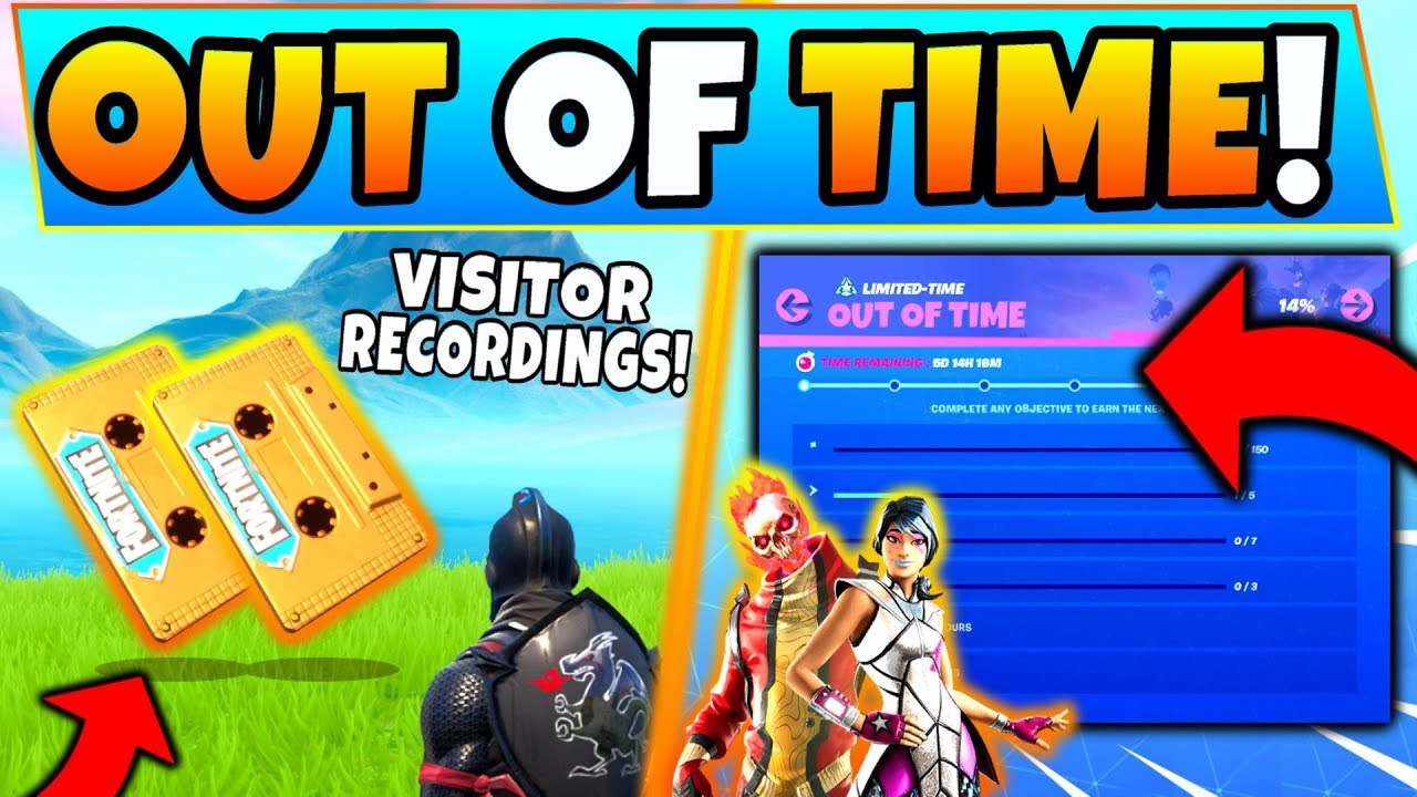 Fortnite Visitor Recordings Out Of Time Overtime Challenges Floating Island Retail Row More