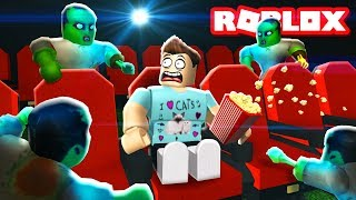 ESCAPE THE ZOMBIE MOVIE THEATER IN ROBLOX