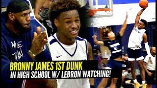 LeBron Watches Bronny James DAMN NEAR E...