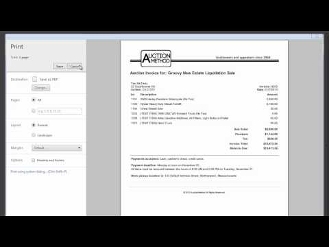 AuctionMethod tutorial - Paying an Auction Invoice