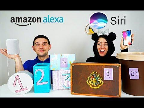 SLIME MYSTERY BOX SIRI VS ALEXA SLIME SUPER STRONG SKIFIDOL CHALLENGE !!!!!