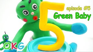 Green Baby -In- LEARNING NUMBERS - Stop Motion Cartoons For Kids #5