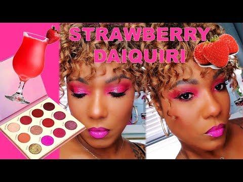 Beauty Crop STRAWBERRY DAIQUIRI Palette - Pink Glitter Eye Shadow Look thumbnail