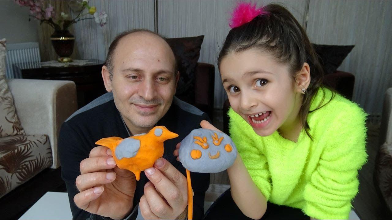 Lina İle Evde Oyun Hamuru Yaptık Çok Güzel Şekiller Verdik   Funny Kids Video