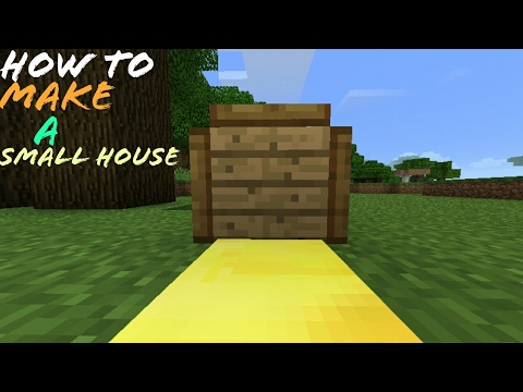 how to make a small house using command block in minecraft pocket