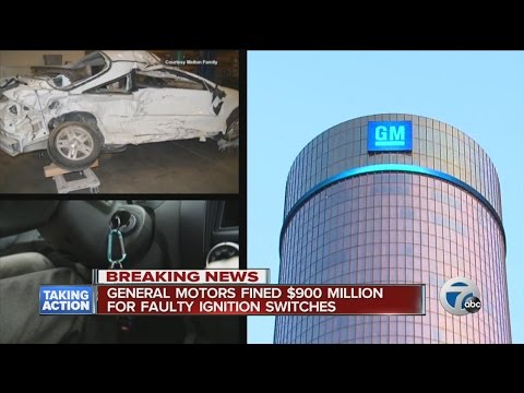 GM fined $900 million for faulty ignition switches